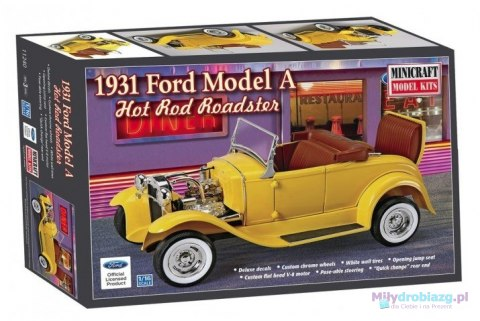 Model plastikowy - Samochód 31 Ford Roadster Hot Rod 1:16 - Minicraft