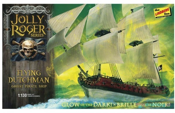 Model plastikowy - Statek Jolly Roger Series: Flying Dutchman 1:130 - Lindberg